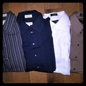 Lot of 4 mens Claiborne dress shirts 17 1/2 36/37